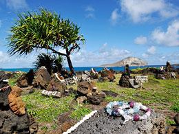 ハワイで記念撮影